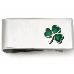 Cloverleaf Sterling Silver French Fold Money Clip