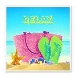 Relaxing on the Beach Art Print