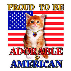 Proud To Be American Cat T-Shirt