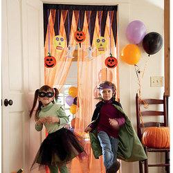 Make a Halloween Entrance Curtains