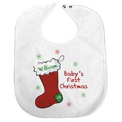 Baby's 1st Christmas Personalized Baby Bib