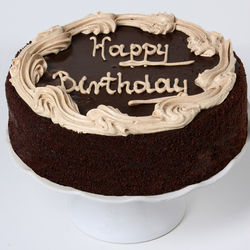 Large Chocolate Fudge Birthday Cake