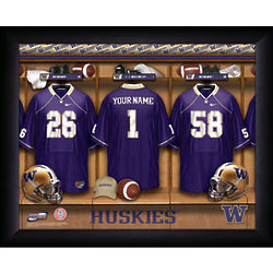 Personalized Washington Huskies Football Locker Room Print