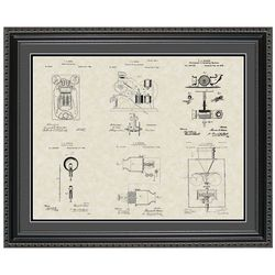 Thomas Edison Patent Collection Framed Print 20x24