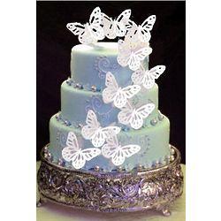 25 Small Edible Rice Paper Butterflies