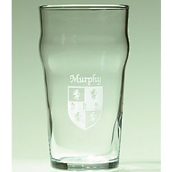 Personalized Irish Coat of Arms Pub Glasses