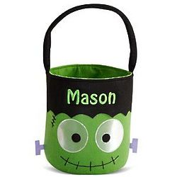 Frankenstein Personalized Reflective Halloween Treat Bag