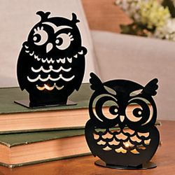 Owl Tealight Candleholders