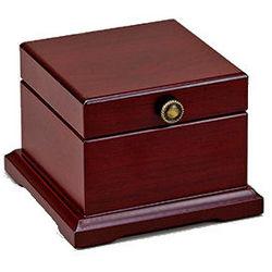 Personalized Rosewood Finish Hinged Trinket Box