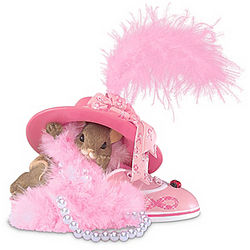 Breast Cancer Support Charming Tails Mouse Figurine