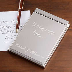 Personalized Signature Flip Notepad