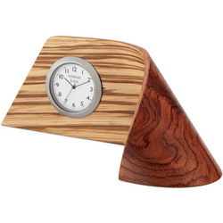 Zebrawood Ribbon Handcrafted Clock