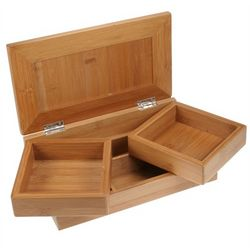 Bamboo Desktop Stationery and Organizer Box