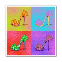 4 Panel High Heel Pop Art Print