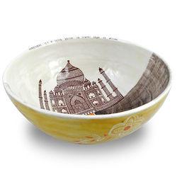Taj Mahal Handmade Ceramic Serving Bowl
