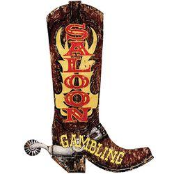 Cowboy Boot Saloon Sign