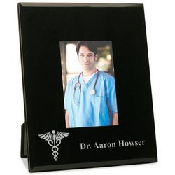 Personalized Doctor Frame with Silver Medical Caduceus