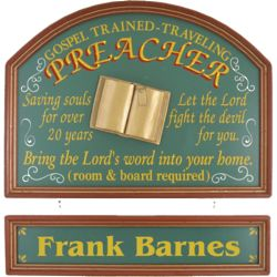 Personalized Preacher's Pub Sign
