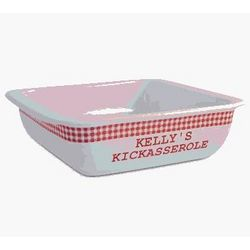 Personalized Red Gingham Kickasserole Dish