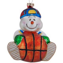 Basketball Snowman Christmas Ornament