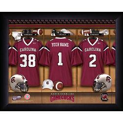 Personalized South Carolina Football Locker Room Print