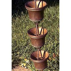 Copper Cup Rain Chain