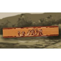 Horses Personalized Wood Bookmark