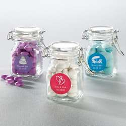 Candy Apothecary Jar Favor with Personalized Label