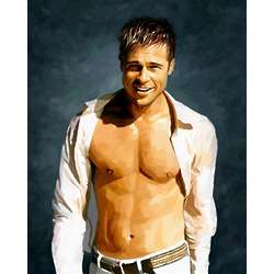 Brad Pitt in the Sun Print
