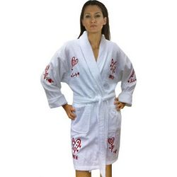 Women's Lovely Script Applique Bathrobe