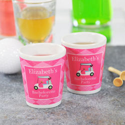 Personalized Golf Party Shot Glasses