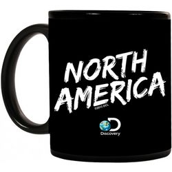 North America Logo Black Ceramic Mug