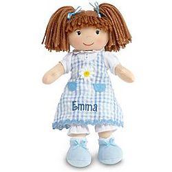 Personalized Little Sister Caucasian Brunette Doll