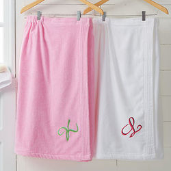 Personalized Women's Terry Cloth Spa Towel Wrap