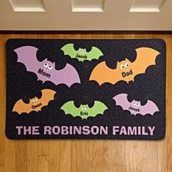 Personalized Bat Family Doormat