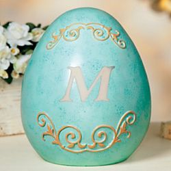 Monogrammed Easter Egg Decoration