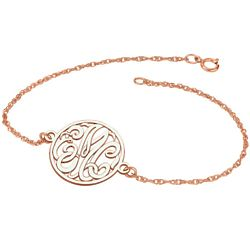 Personalized Monogram Rose Gold Bracelet