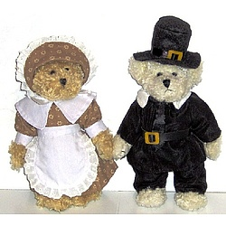 Teddy Bear Pilgrim Couple