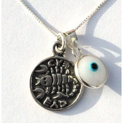 Evil Eye and Recovery Amulet Silver Necklace