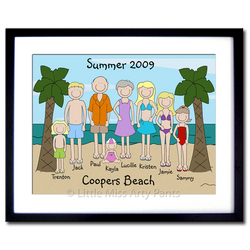 Framed Beach Family Portrait Print