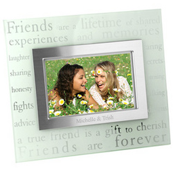 Forever Friends Glass Picture Frame