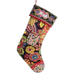 Vera Bradley Monogrammed Symphony in Hue Christmas Stocking