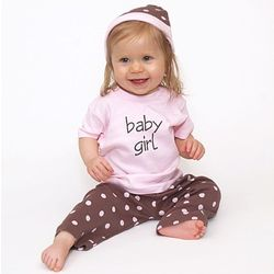 Pretty in Pink Baby Girl Clothing Set