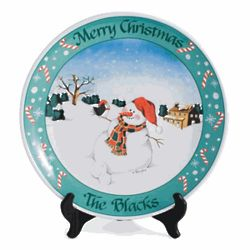 Personalized Snowman Holiday Platter