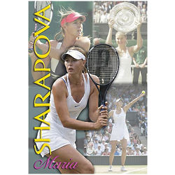 Maria Sharpova Tennis Action Poster