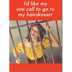One Call From Prison Birthday Card