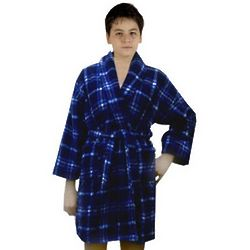 Boy's Plaid Print Bathrobe