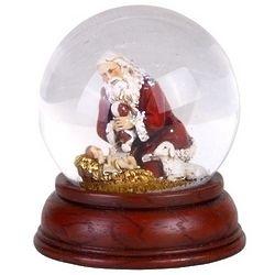 Kneeling Santa Water Globe