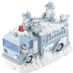 Snowbuddies Fire Truck Figurine