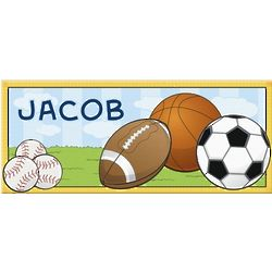 Kid's Personalized Sports and Balls Canvas Print